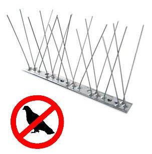 Dissuasori anti piccioni spilli inox flessibile cm100 per for Dissuasori piccioni amazon