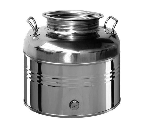 Contenitore olio in acciaio inox il fusto maffei for Dissuasori piccioni amazon