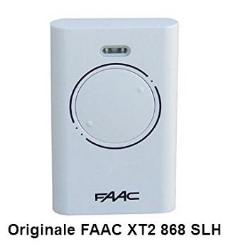 telecomando faac originale xt2 868 slh lr 868 35 mhz per. Black Bedroom Furniture Sets. Home Design Ideas