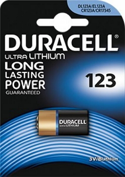 Batteria Duracell CR 123 3V Lithium 1pz