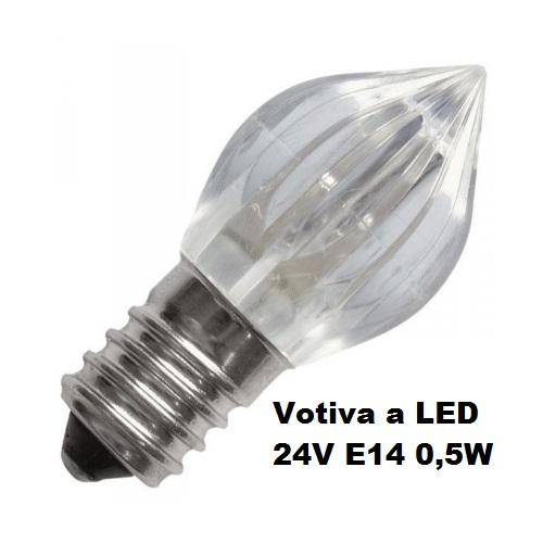 Lampada votiva a led 24v e14 0 5w ambra ferramenta rizzo for Lampada antizanzare