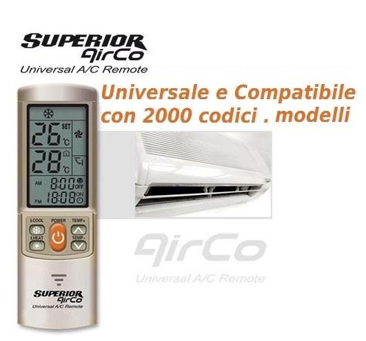 Condizionatori telecomando Airco Plus universelle per Hitachi Tasaki Toyama