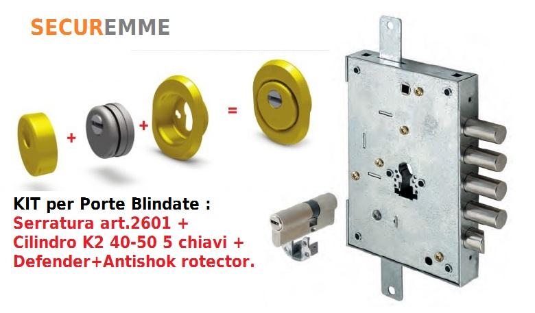 Kit serratura a cilindro europeo securemme con for Estrarre chiave rotta da cilindro