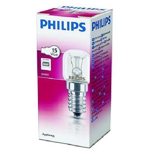 Lampadina incandescenza x forni 15w e14 philips misure for Lampada tubolare led